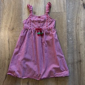 Gymboree Red Cherry Gingham Dress